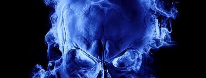 Blue Skull Design