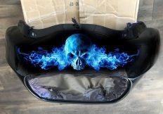 Custom Digital Motorbike Graphics Fire Blue